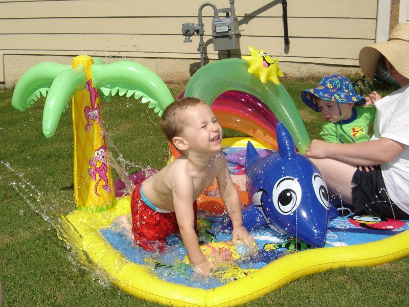 Jacob splashing