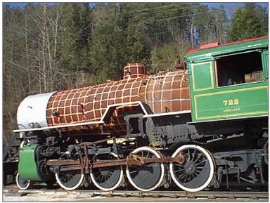 GSMR 722 Steam Locomotive